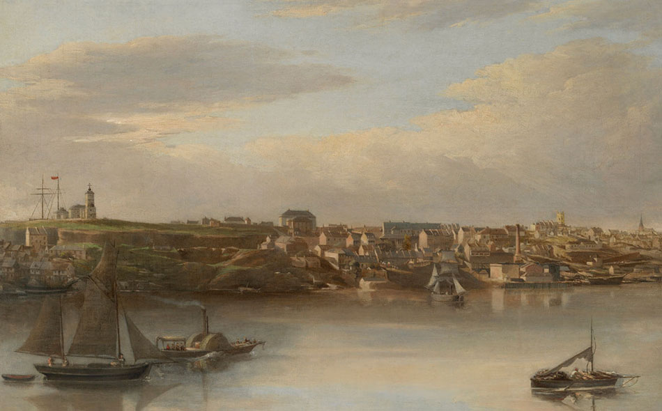 View of Millers Point and Darling Habour, painting by unknown artist, 1870