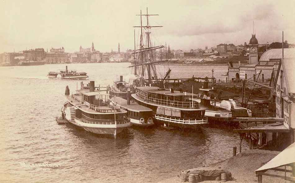 Paddle Wheel Ferries Milsons Point, photographs by unknown artist, 1900-1910, PXE 711/130