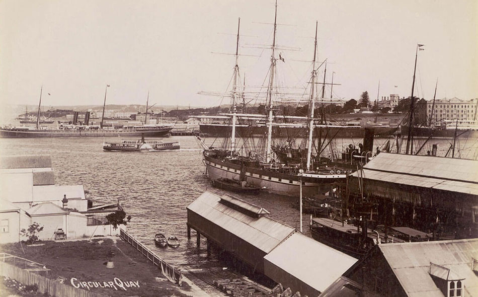 North Sydney Ferry Wharf, photographs by unknown artist, 1900,
