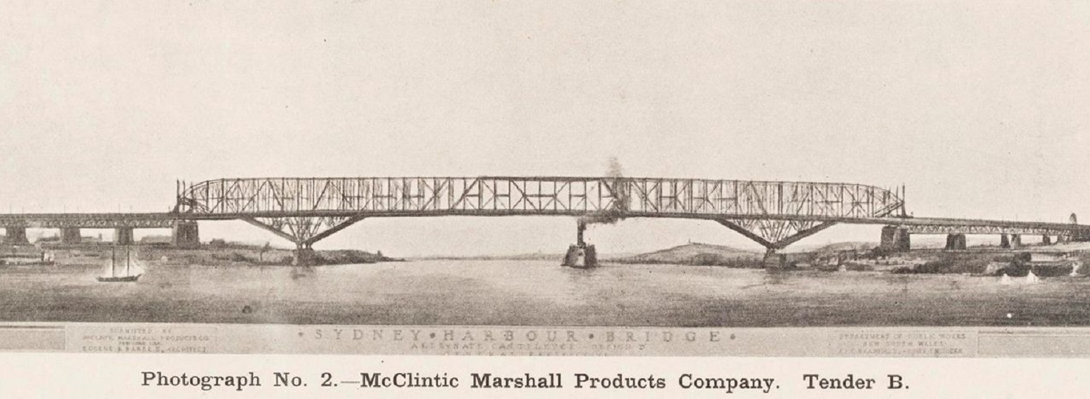 [Photograph no 2 McClintic Marshall products company  tender B] from Sydney Harbour Bridge: Report on Tenders., TQ028863