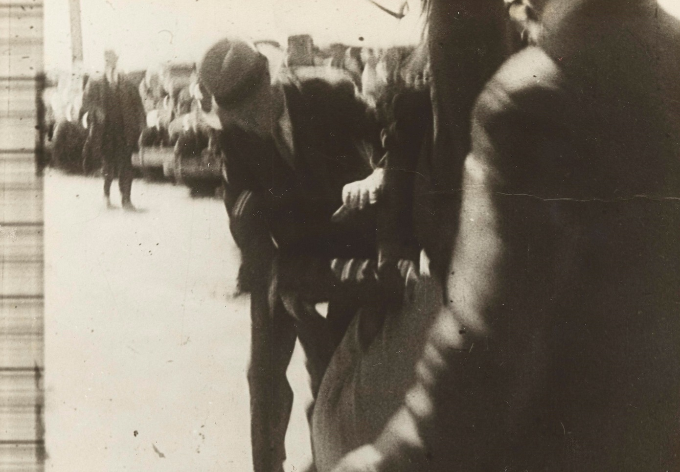 Arrest of De Groot [incl. 3 dups], photograph, from Major Francis Edward De Groot - Papers: Vol. 2 - Opening of Sydney Harbour Bridge, no 4 1932, A 4946