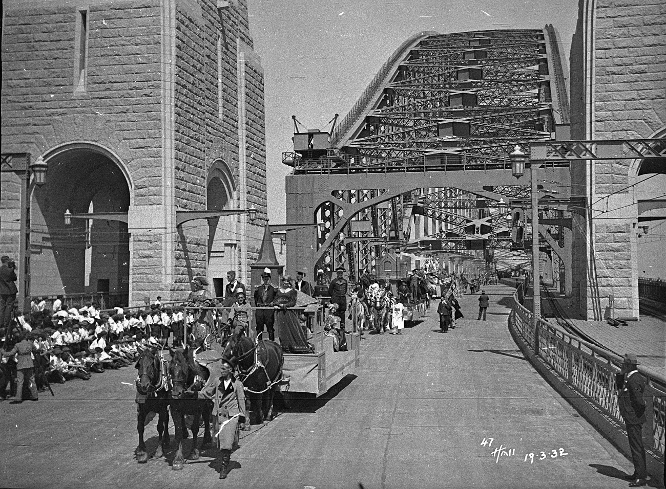 Floats, Sydney Harbour Bridge Celebrations, photographs by Hall and Co, 1932, Home and Away – 38475